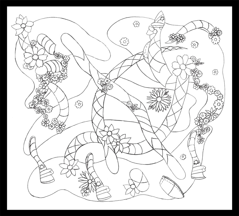 Argyle islands, graphite on paper, 22-1/2 x 23 (2011)