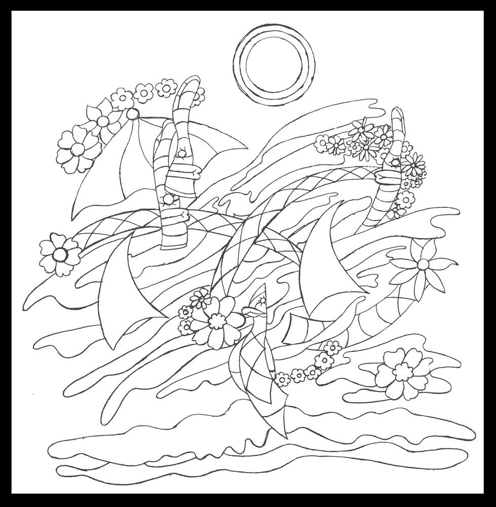Siesta Key, graphite on paper, 17-1/2 x 17- 1/2 (2011)
