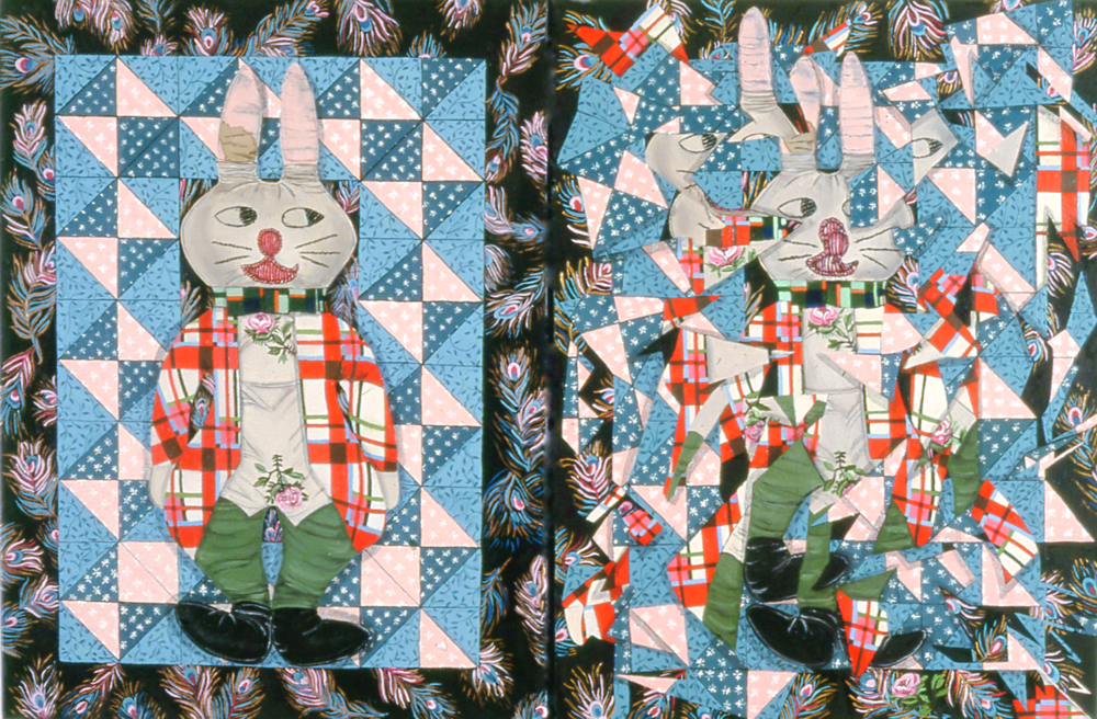 White Rabbit Diptych