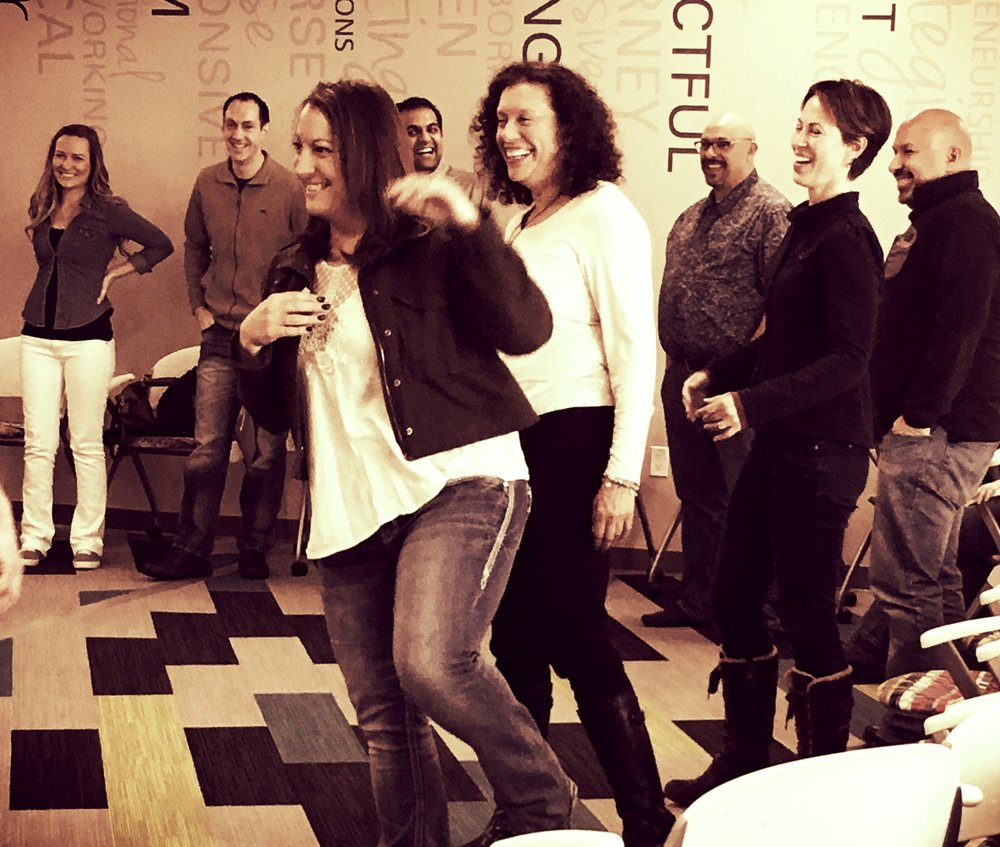 Improv     Using the basic principles of improvisation to create a positive atmosphere for participants as individuals and as a group, this fun, fast-paced workshop focuses on communication skills, creativity, and thinking on one's feet.