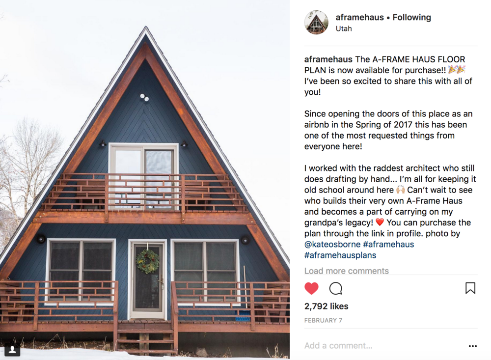 Want to build your own A-Frame?! The A-Frame Haus floor plan is now for sale!