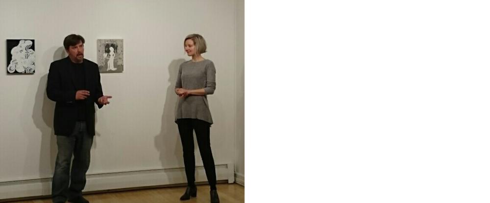 Art critic Daniel Kany and Veronica Cross