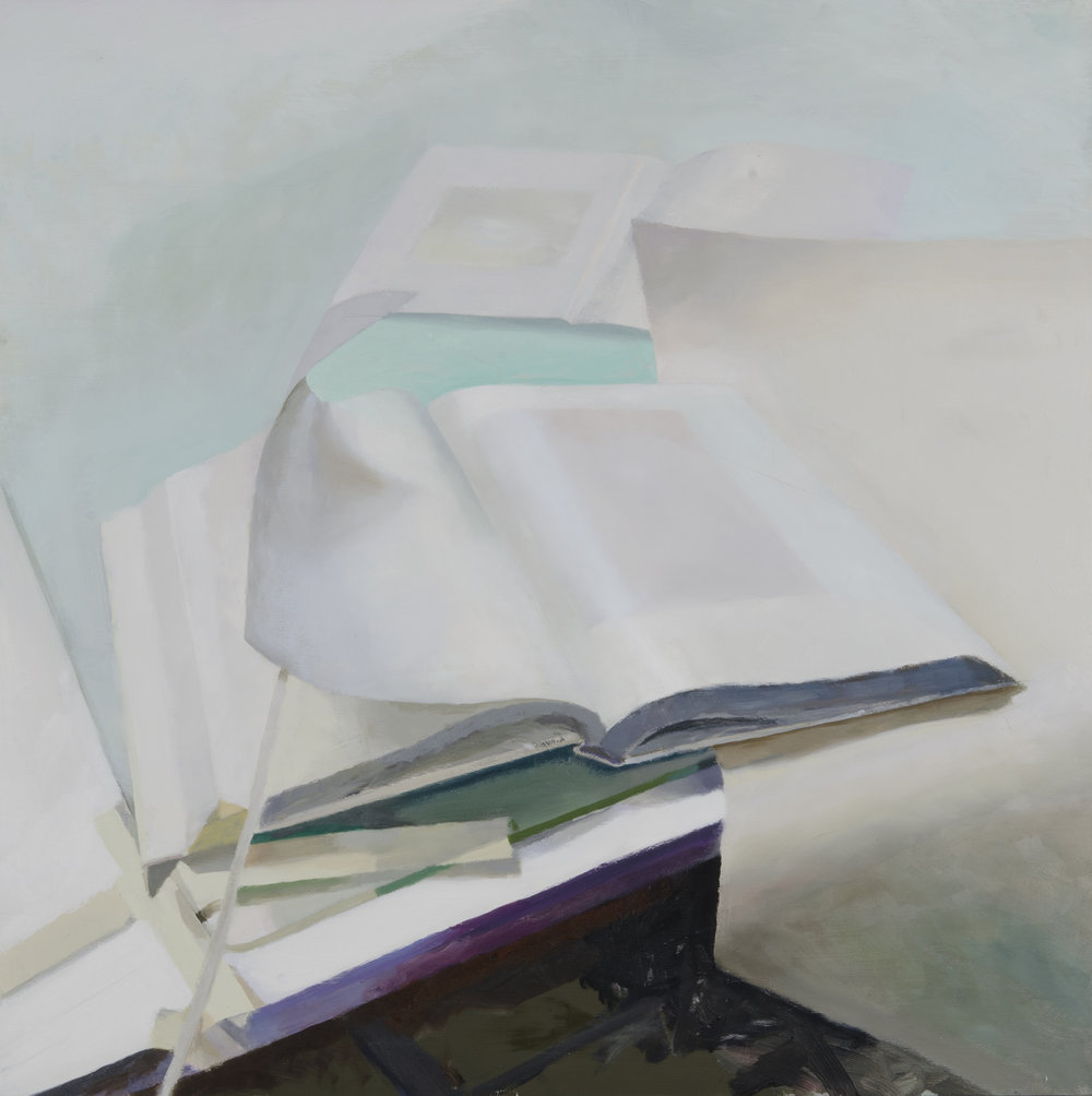 Academic Abutment  2016, oil on board, 30x30 inches