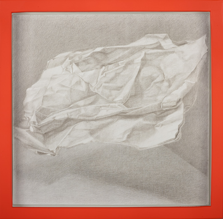 Artforum in Suspension  2016, silverpoint on board, 10x10 inches