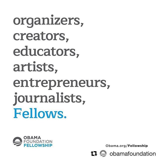 applications due october 6! 👀 at you #apply #obamafellowship #artist #bethechange #fyi #repost