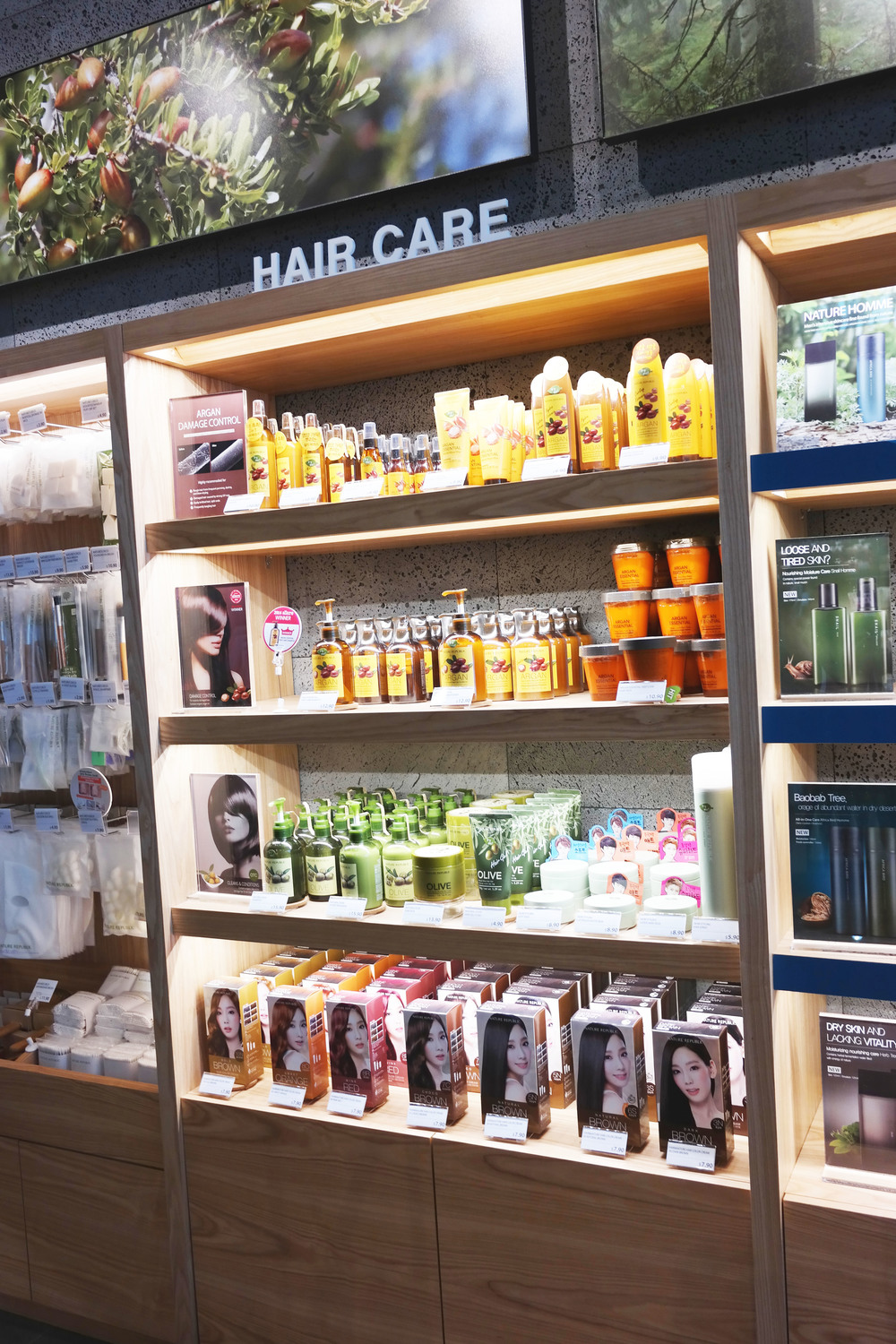 While you're shopping for skin stuff, and a hair section catches your eye... !!!