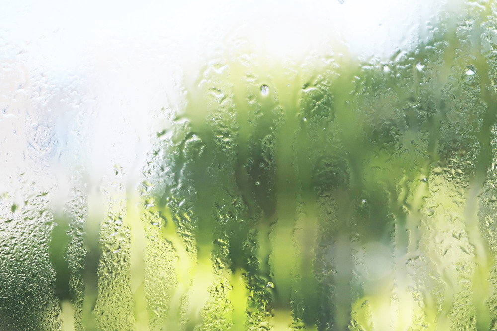 A shot of the INNISFREE face mist on my window... was missing rain one day.