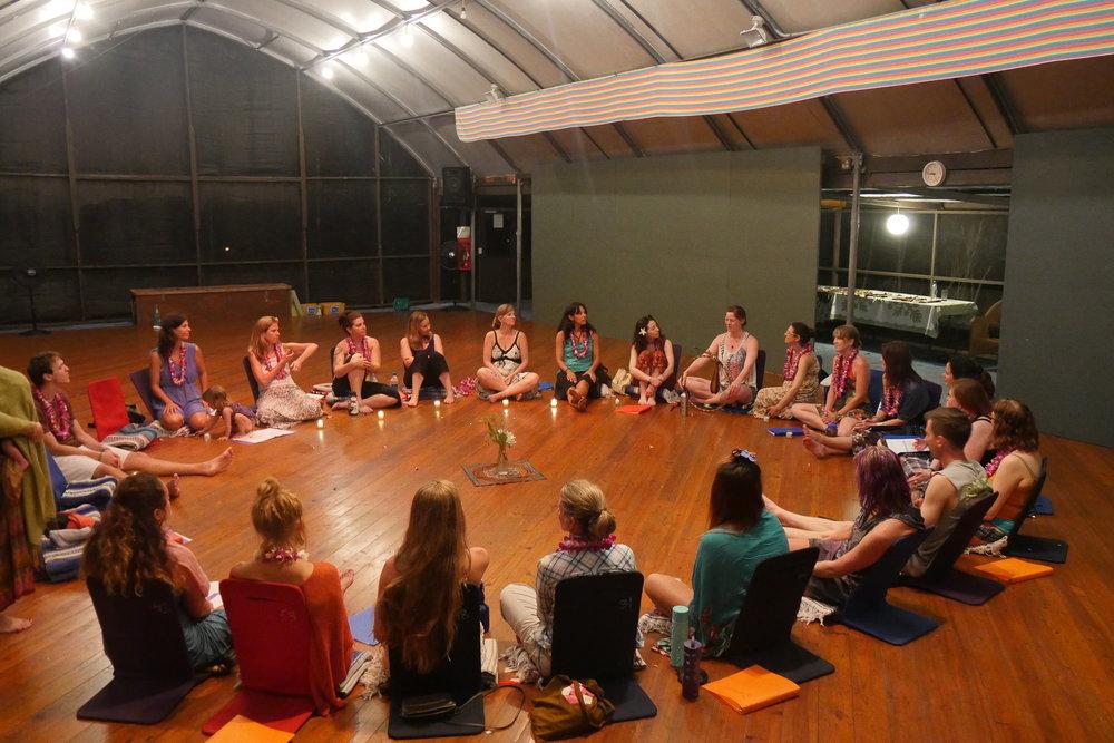 Group circle at Beauty that Transforms - Hawai'i 2015