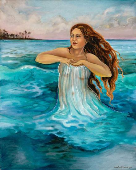 Namake, Hawaiian Goddess of the Sea  Artist: Unknown