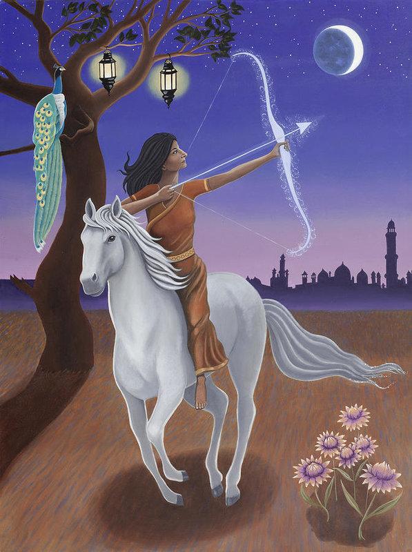 Sagittarius/Saraswati - Goddess of Knowledge   Artist: Karen MacKenzie