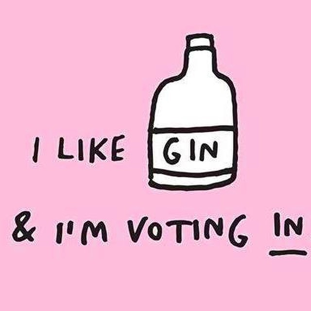 A simple yet effective motto for today's proceedings. VVx #VoteRemain #voteIN #gin #glastonbury #herewecome