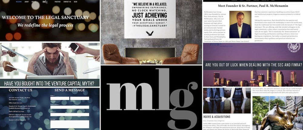 McMenaminLawGroup.com & The Legal Sanctuary are multiple redesign projects completed by BrandonMushlinCreative.com as well as ghostwriting, copywriting, copyediting, and graphic design work.