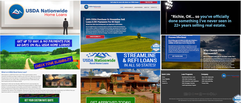 USDANationwide.com is a 50 state lender for USDA Rural Development Home Loans, as a creative project addition to the Nationwide Home Loans Group Brand, in coordination with Brandon Mushlin Creative.
