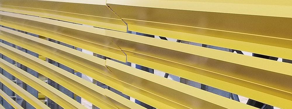 BladeScreens™ architectural louver screens