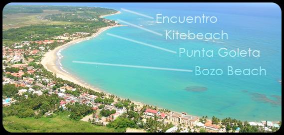 Cabarete aerial photo kitesurfing sport