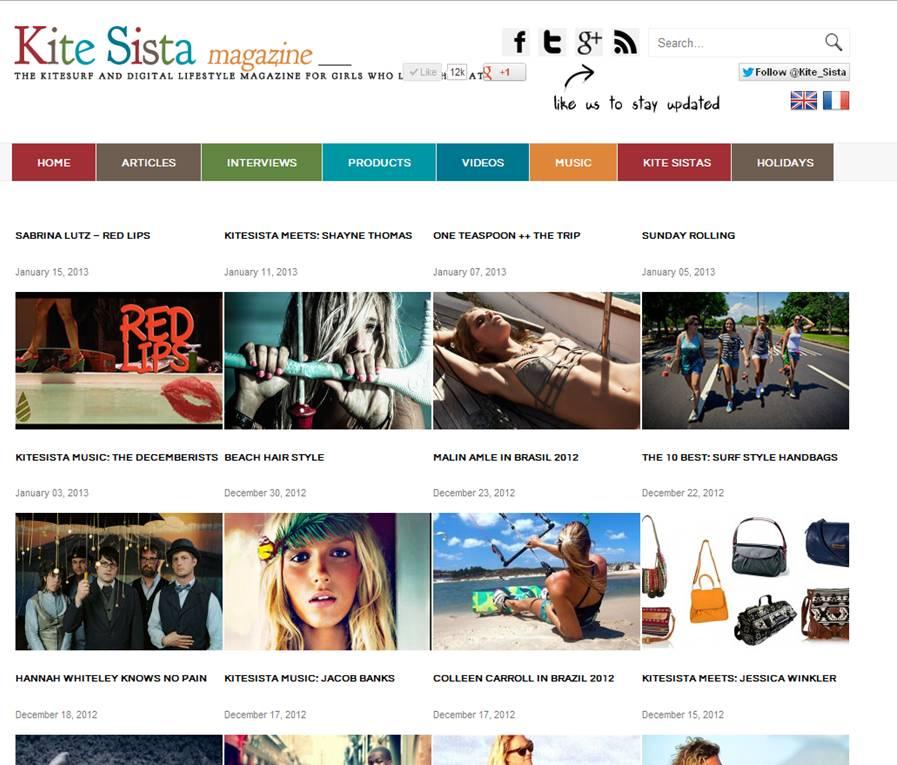 kitesista homepage