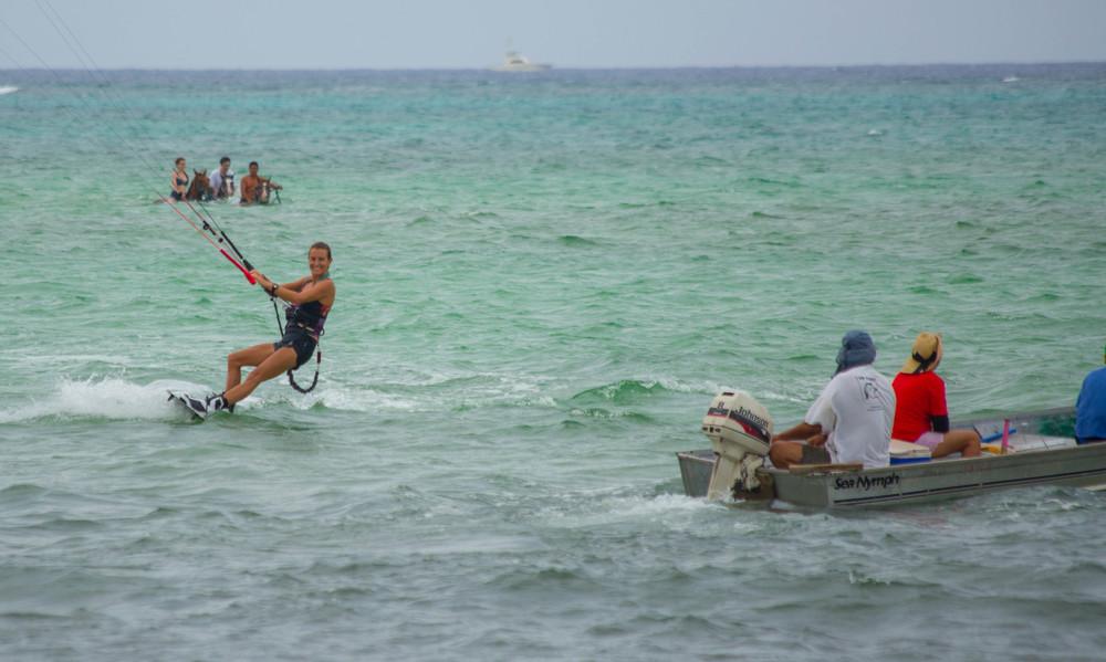 kitesurfing with locals