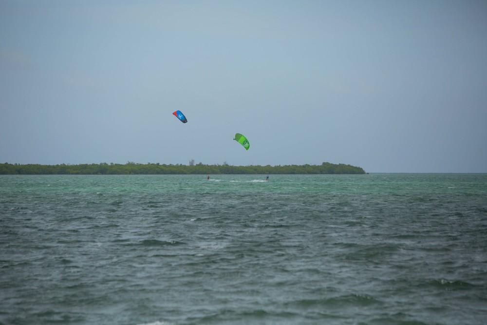 Kitesurfing to lunch