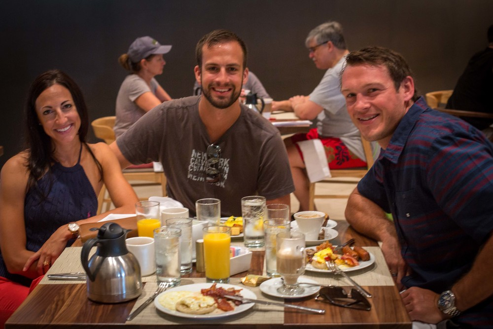 All you can eat breakfast at Anchor & Den, Marriott Grand Cayman Beach Resort