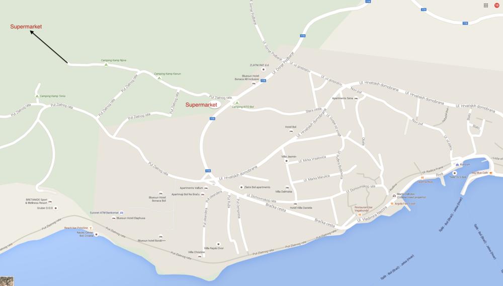 Vidowa Gora path Bol Croatia