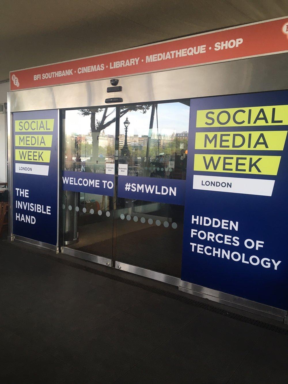 social media week entrance