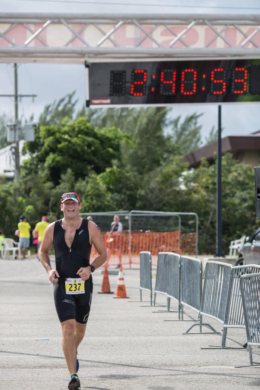 cayman triathlon finish