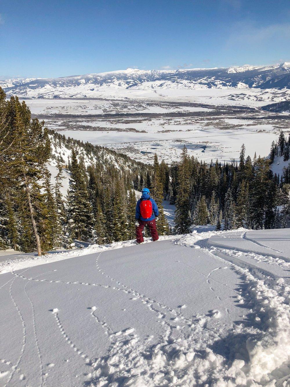 powder skiing backcountry Jackson hole