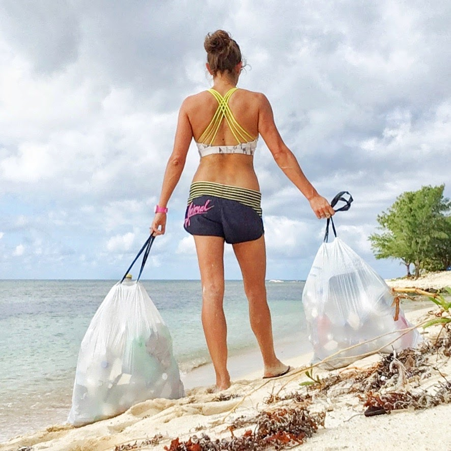 collecting rubbish cayman www.caribbeansnowflake.com.jpg