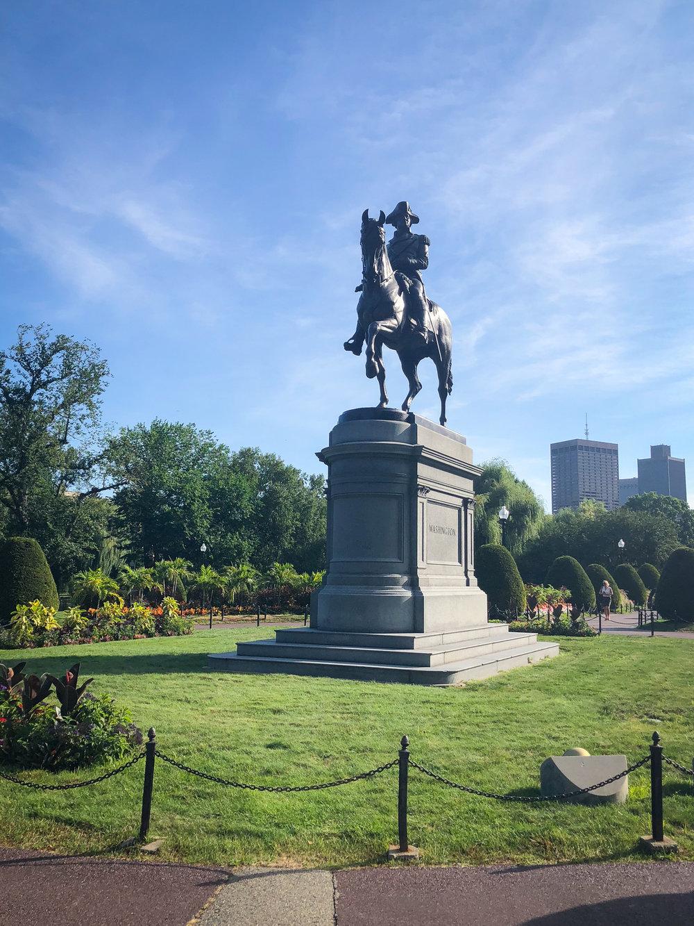 Washington Monument Boston Public Garden www.caribbeansnowflake.com