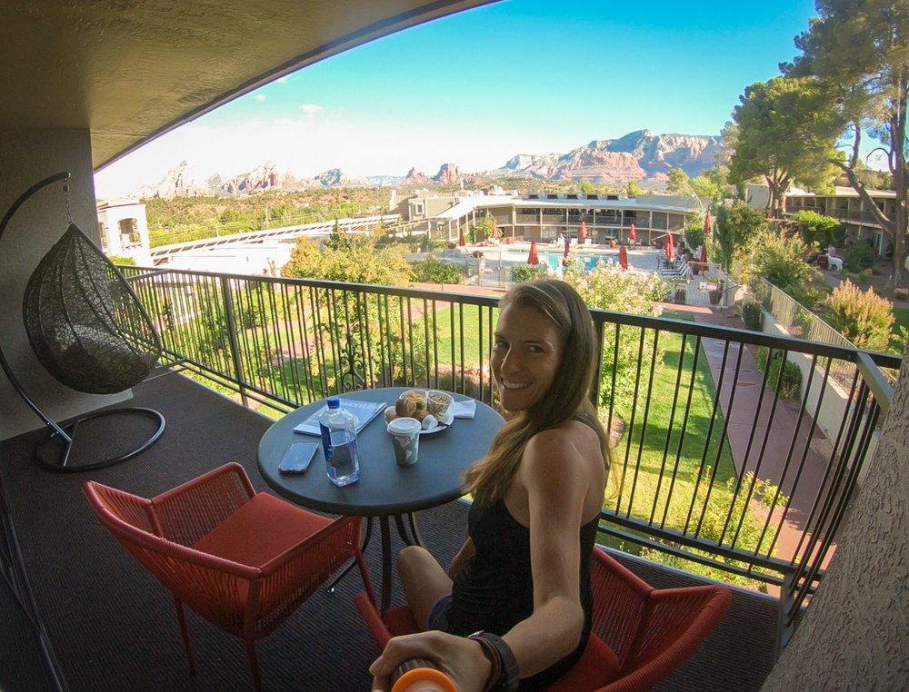 breakfast Arabella hotel Sedona www.caribbeansnowflake.com