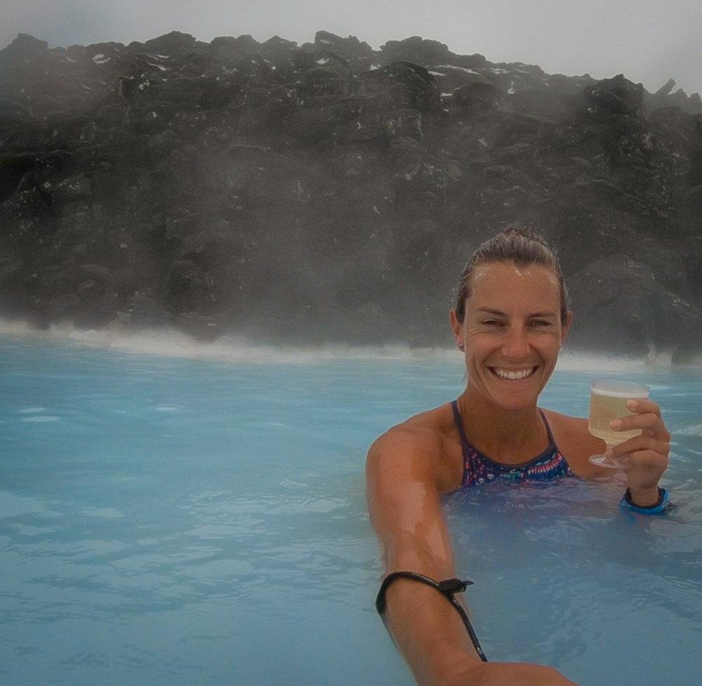 Swim up bar Blue Lagoon Iceland
