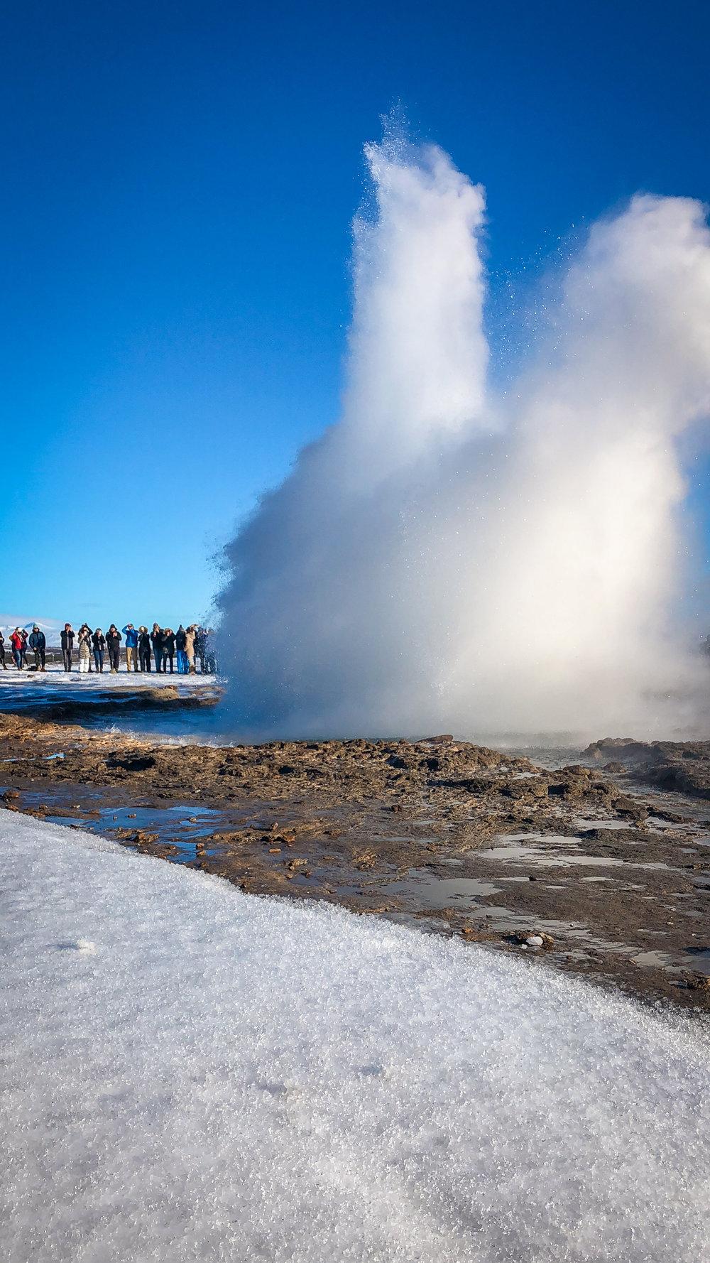 Geysir Iceland www.caribbeansnowflake.com