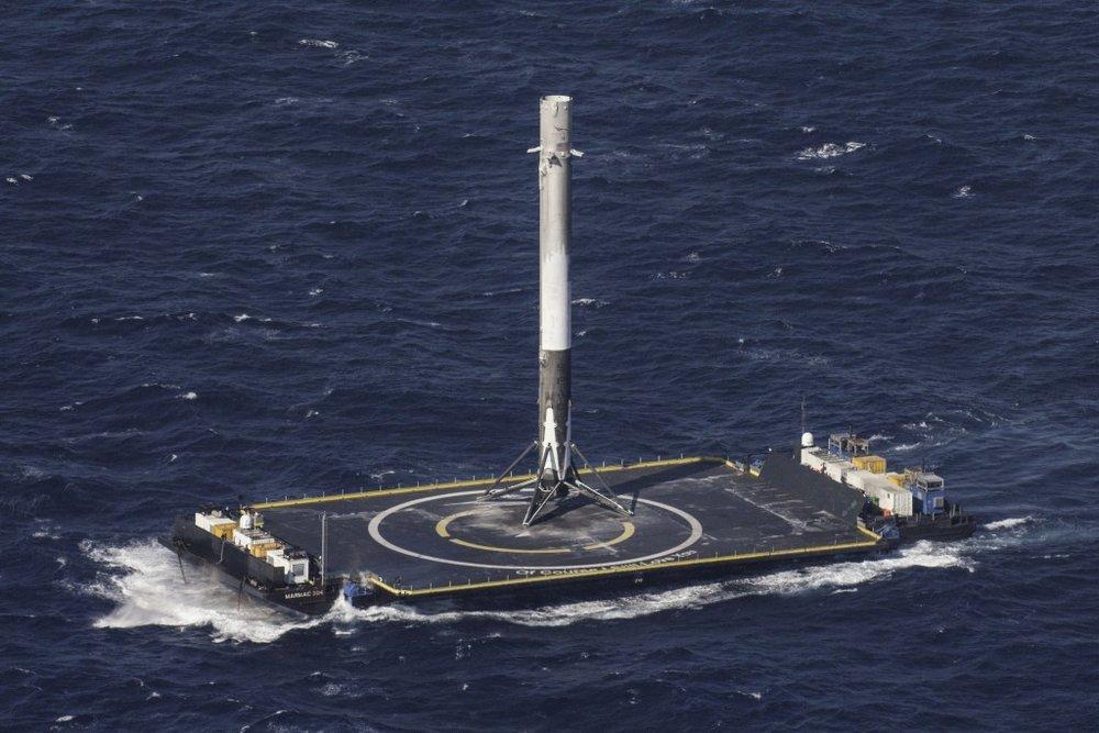 SpaceX lands rocket at sea and makes history