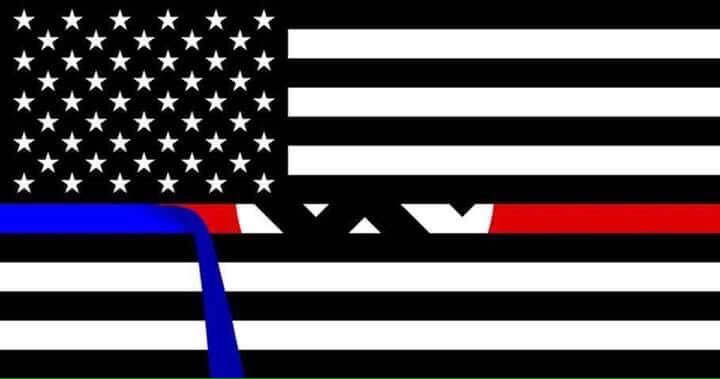 "What's behind the desecrated American Flag of ""Blue Lives Matter?"""