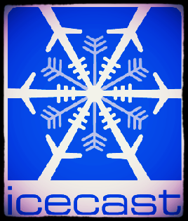 Icecast - Plays on almost any device, click the logo