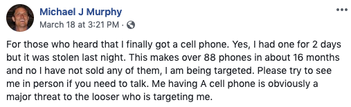 He takes pains to point out that he is definitely  not  selling these phones.