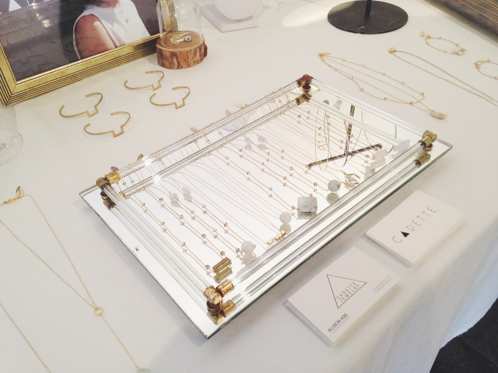 Cadette Jewelry's display at the Parkdale Flea (May 10th 2015)