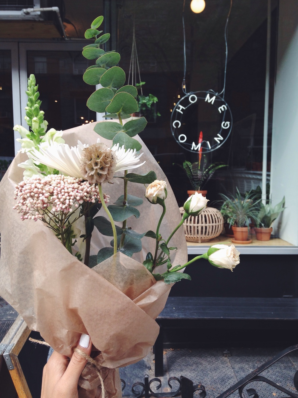 The perfect botanicals are always a must for every Cadette display! Picked out a small arrangement from Home Coming in Greenpoint (before the show)!