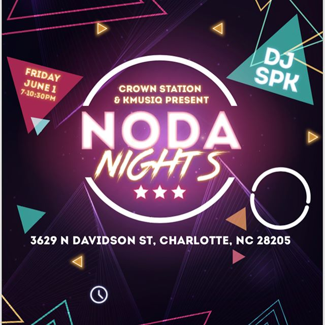 Come see myself, @iamdj.spk and other #CLT artists as we present NoDa nights at @crownstation on Friday, June 1! Swipe right to see the line-up! #exploreclt #noda