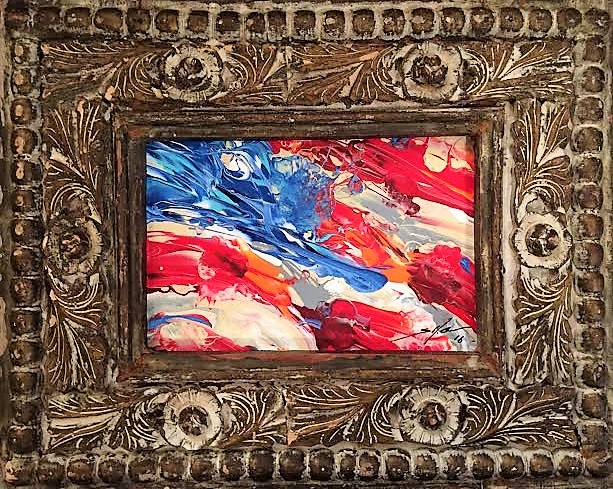 124. Acrylic on canvas, 8x12. Thick, heavy, distressed, antique frame. $1,800 Copy picture or the number of the piece you desire and email to scott@scottlobaido.com , for purchase.