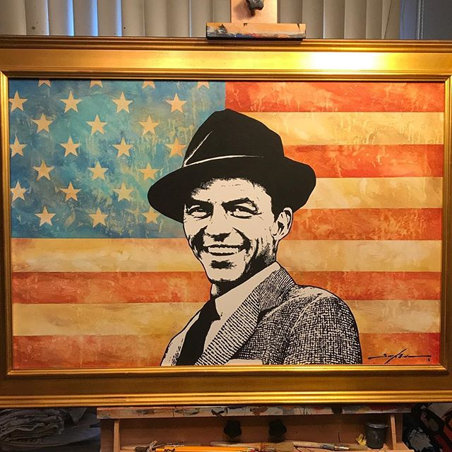 """The Chairman"" acrylic on canvas 24x36 On display Saturday night at the St. George Theater Gala. Will be up for auction in the fall. Proceeds to Theater restoration."