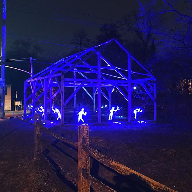 """Breaking Throught Barriers"" art installation. Historic Richmond town. Autism Awareness month"