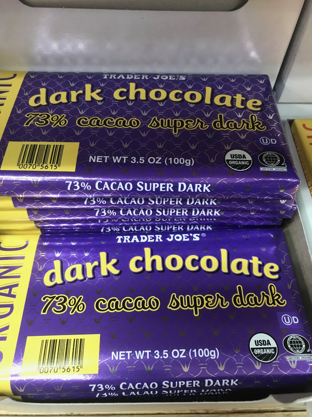 Soy-free chocolate can be easy to find at Trader Joe's!