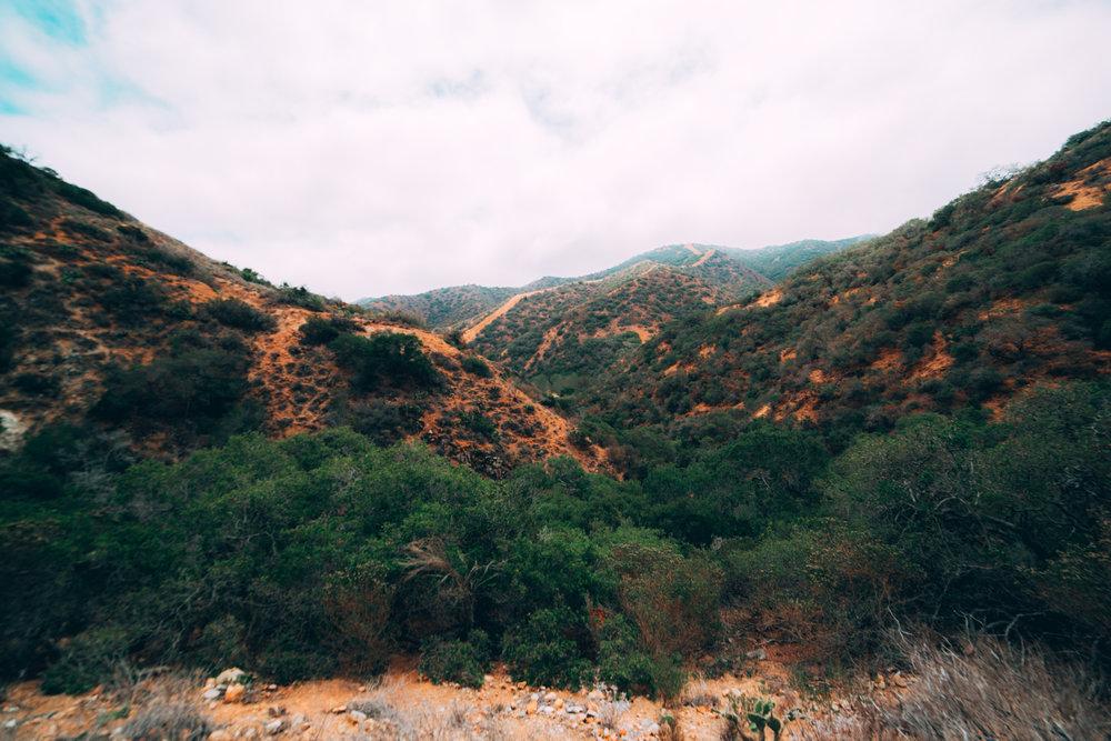 hiking the mountains on Catalina Island