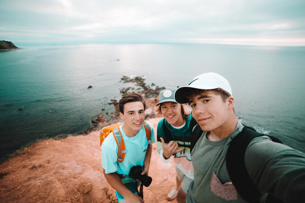 at the cliffs of Palos Verdes