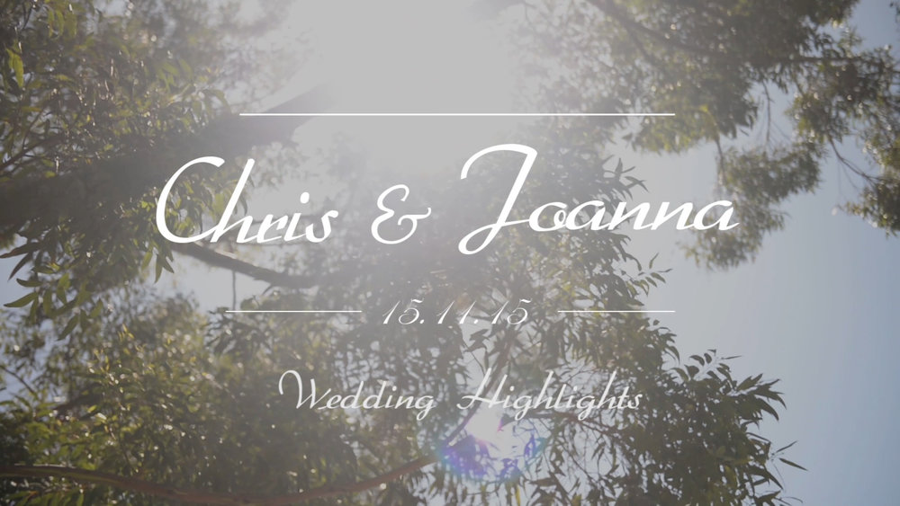 Chris and Joanna Wedding Highlights