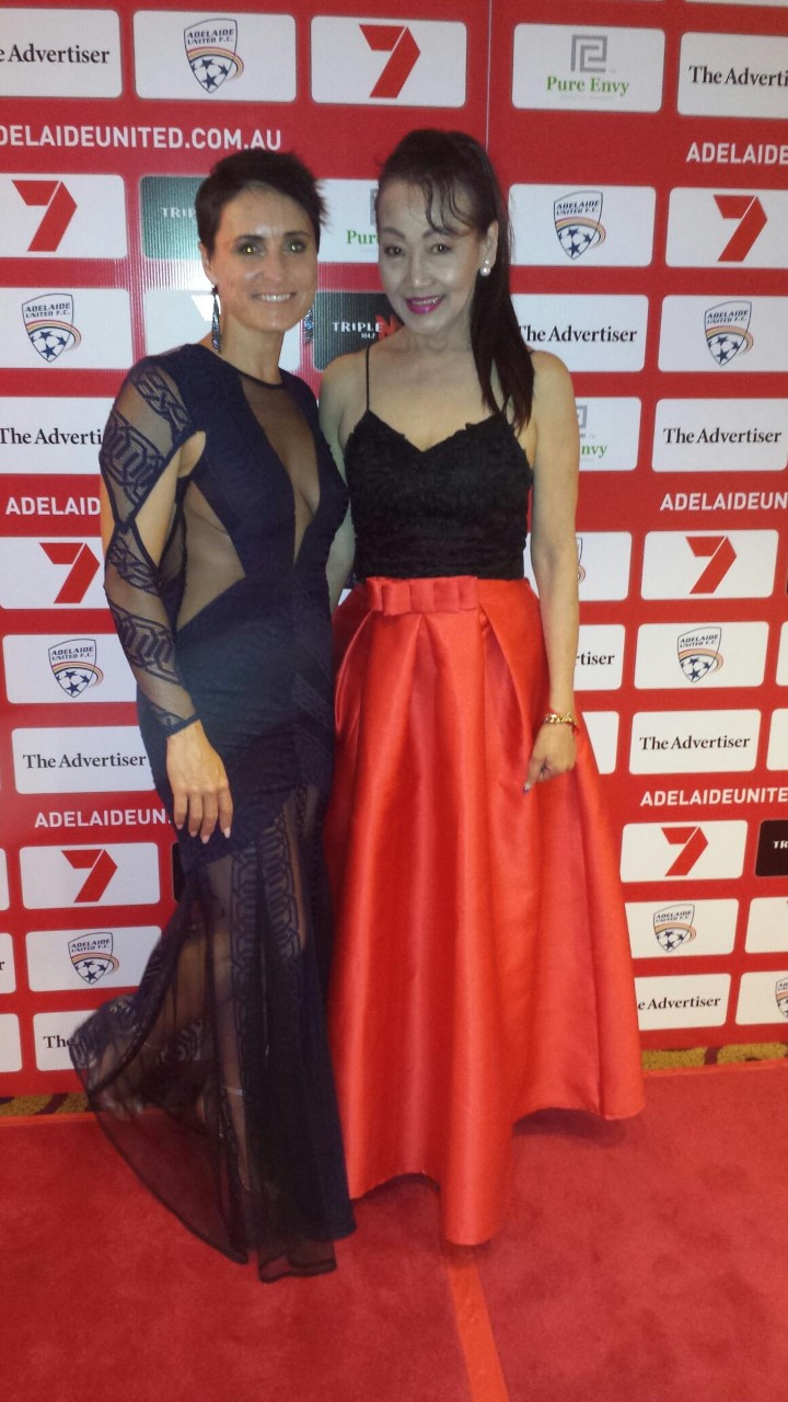 On the Red Carpet at AUFC Awards Night with the beautiful Susie Wong