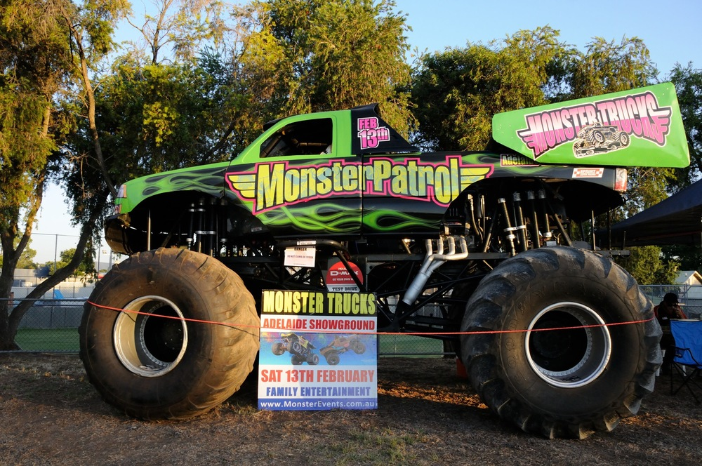 The Monsters Trucks were on display again and well utilised to start the T20 match