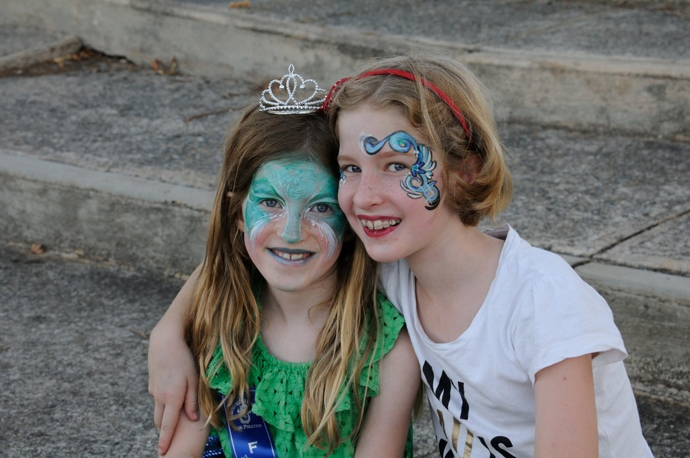 Some of our best dressed winners also taking advantage of the free face painting