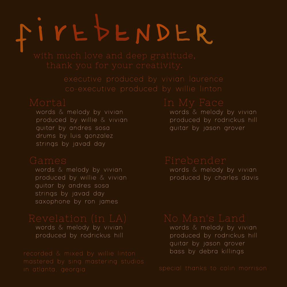 Vivian Firebender EP credits